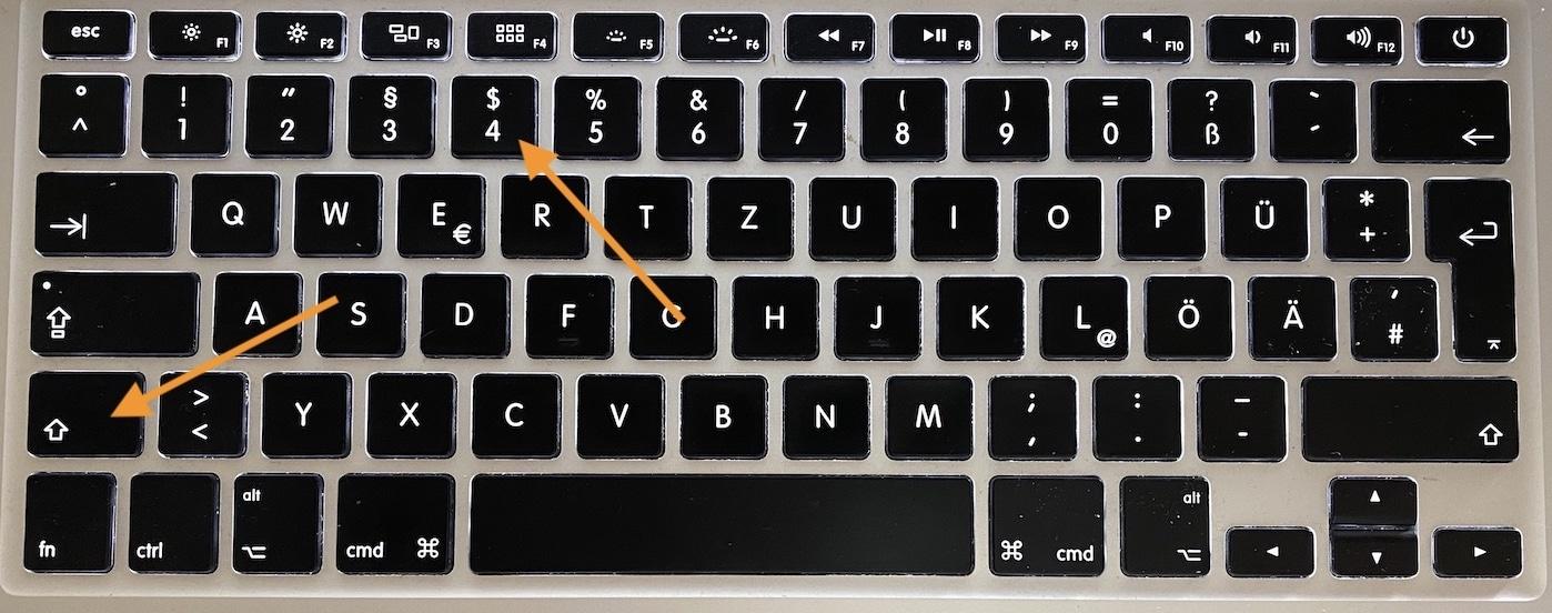 Dollarzeichen-Tastatur Mac